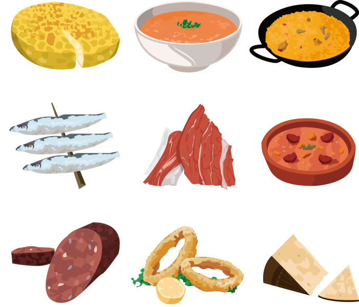 kisspng-tapas-spanish-cuisine-barbecue-squid-as-food-mexic-vector-painted-fish-pizza-ham-squid-rings-5a8433a8191f38.5270170315186134161029